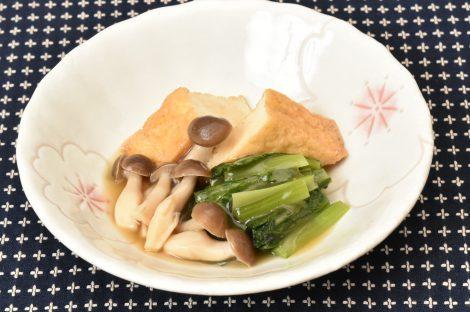 厚揚げ小松菜の煮浸し