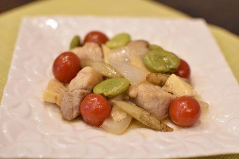 春野菜の彩り和風酢豚
